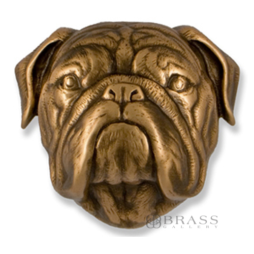 Michael Healy Bronze Bulldog Door Knocker Brass Gallery