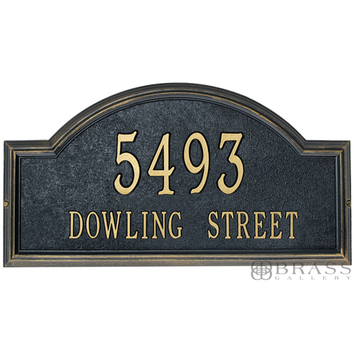 Whitehall Two Line Classic Providence Arch Address Plaques