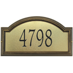 Whitehall - 1 Line Providence Artisan Metal Address Plaques