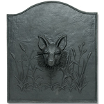 Minuteman - Black Cast Iron Fox Fireback