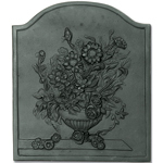 Minuteman - Black Cast Iron Bouquet Fireback