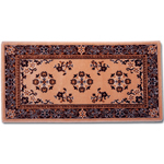 Minuteman - Rectangular Beige Oriental Fireplace Hearth Rugs