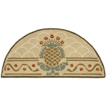 Minuteman - Deep Olive Pineapple Half Round Fireplace Hearth Rug