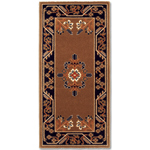 Minuteman - Rectangular Cocoa Jardin Fireplace Hearth Rugs