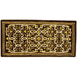 Minuteman - Deep Olive Tabriz Rectangular Fireplace Hearth Rug