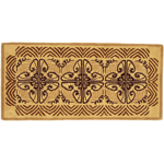 Minuteman - Cocoa Art Deco Rectangular Fireplace Hearth Rug