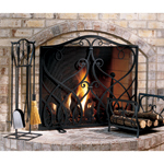 Williamsburg - Graphite Powdercoated Cypher Fireplace Screens