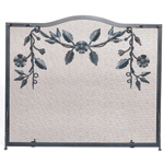Williamsburg - 32 1/4&quot; H Graphite Garland Flat Fireplace Screen