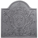 Minuteman - Natural Cast Iron Louis XV Fireback