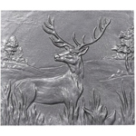 Minuteman - Natural Cast Iron Stag Fireback