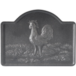 Minuteman - Black Cast Iron Rooster Fireback