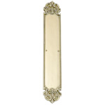 "Brass Accents - Fleur De Lis Door Push Plate - 3"" x 18"""