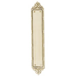 "Brass Accents - Ribbon & Reed Door Push Plate - 2-1/2"" x 13-3/4"""