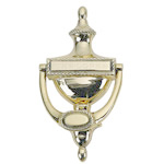 Brass Accents - 8&quot; Engravable Rope Door Knocker