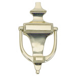 "Brass Accents - 6-1/2"" Engravable Rope Door Knocker"
