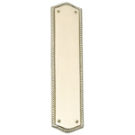 "Brass Accents - Oval Rope Door Push Plate - 2-1/2"" x 10-1/2"""