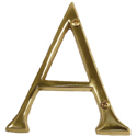 "Brass Accents - 4"" Traditional Letter A"