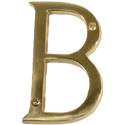 "Brass Accents - 4"" Traditional Letter B"