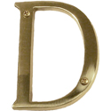 "Brass Accents - 4"" Traditional Letter D"