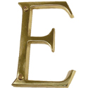 "Brass Accents - 4"" Traditional Letter E"