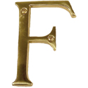 "Brass Accents - 4"" Traditional Letter F"