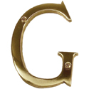 Brass Accents - 4&quot; Traditional Letter G