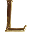 "Brass Accents - 4"" Traditional Letter L"