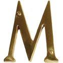 "Brass Accents - 4"" Traditional Letter M"