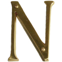 "Brass Accents - 4"" Traditional Letter N"
