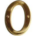 "Brass Accents - 4"" Traditional Letter O"