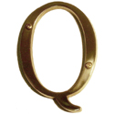 """Brass Accents - 4"""" Traditional Letter Q"""