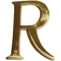 "Brass Accents - 4"" Traditional Letter R"