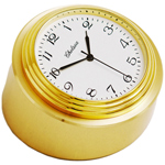 Chelsea Clock - Brass Waterfall Bezel Chart & Paperweight Desk Clock