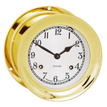 Chelsea Clock - 6&quot; Brass Mechanical Shipstrike Clocks