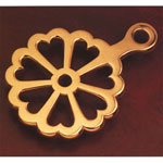 Polished Brass Heart Trivet