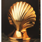 Seashell Brass Bookends