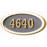 Gaines - 1 Line Bronze 5 Letter Oval House Number Plaques