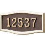 Gaines - 1 Line Bronze 5 Letter Roundtangle House Number Plaques