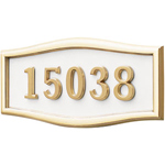 Gaines - 1 Line White 5 Letter Roundtangle House Number Plaques
