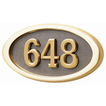 Gaines - 1 Line Bronze 3 Letter Oval House Number Plaques