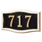 Gaines - 1 Line Black 3 Letter Roundtangle House Number Plaques