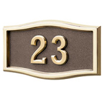 Gaines - 1 Line Bronze 3 Letter Roundtangle House Number Plaques