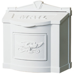 Gaines - White Wallmount Mailbox With Powdercoated Eagle