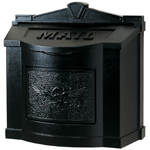 Gaines - Black Wallmount Mailbox With Powdercoated Eagle