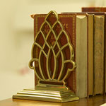Pineapple Bookend or Door Stop - Polished Brass