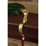 Classic Brass Angel Christmas Stocking Holder