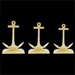 Anchor Brass Bookends