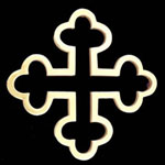 British Cross Brass Trivet