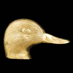 Duck Head Brass Door Knocker