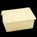 Reverse Lid Engravable Brass Box